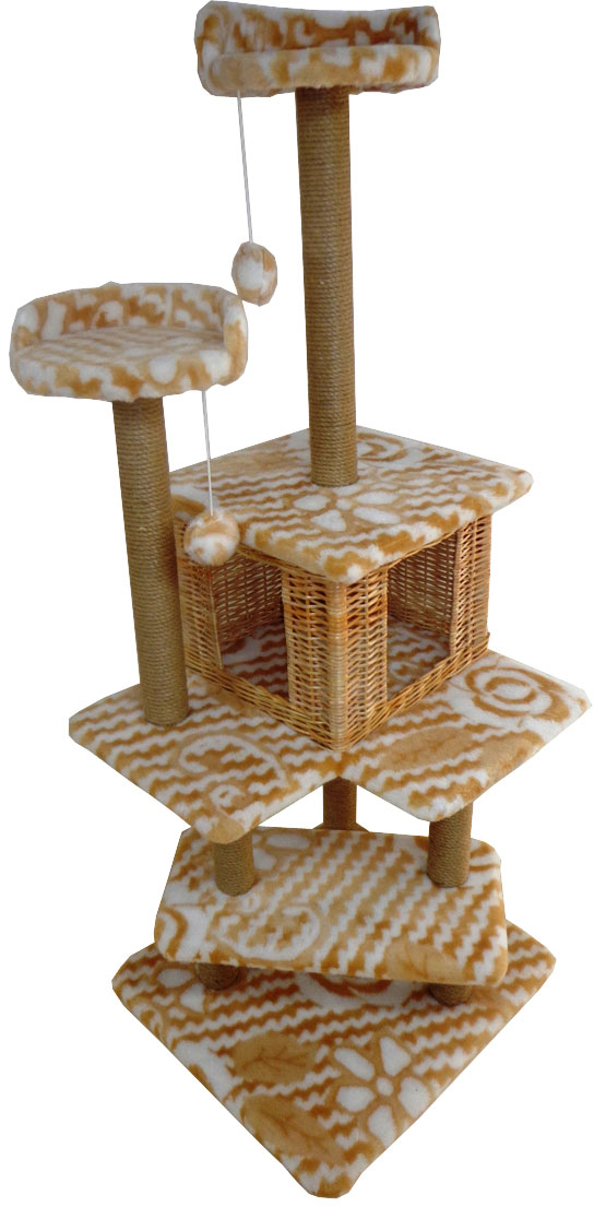 Игровой комплекс для кошек Меридиан Лестница. Цветы, 56 х 52 х 140 см