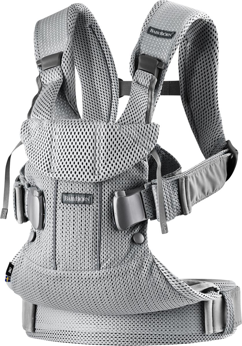 BabyBjorn Рюкзак для переноски ребенка One Mesh цвет серебряный