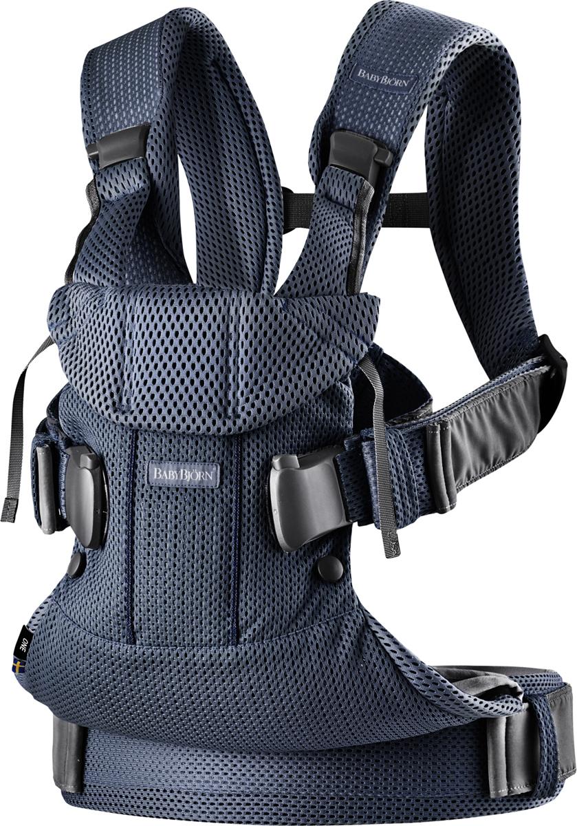 BabyBjorn Рюкзак для переноски ребенка One Mesh цвет темно-синий