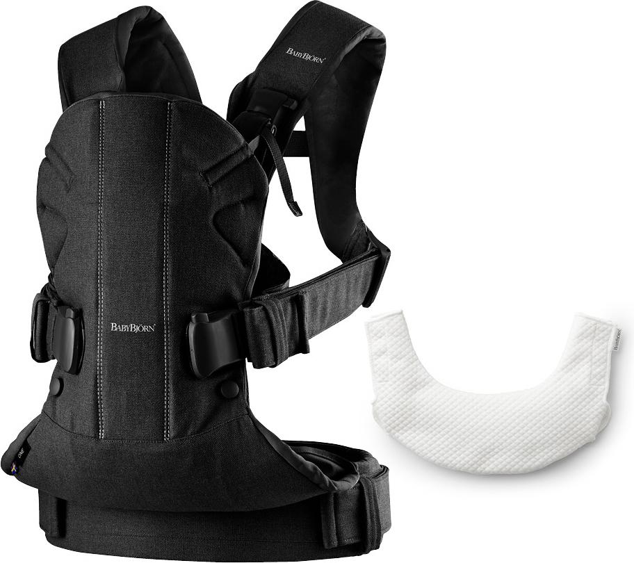 BabyBjorn Рюкзак для переноски ребенка One Soft Cotton Mix с нагрудником
