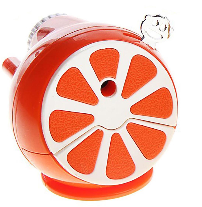 Точилка механическая с контейнером Апельсин цвет оранжевый 127693 - Чертежные принадлежности