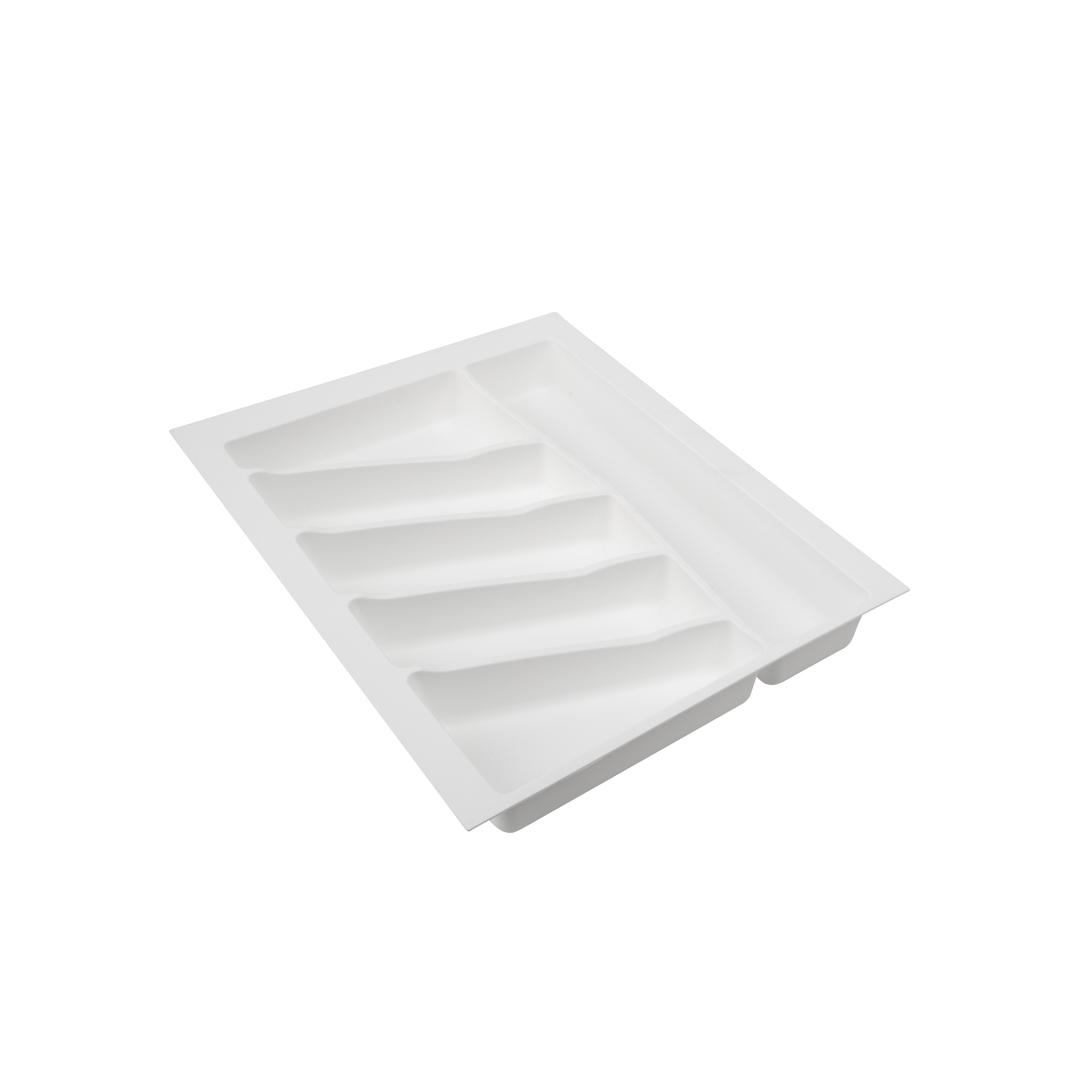 Лоток для столовых приборов VOLPATO, цвет: белый, 39 х 49 х 5 см32-76-NN45-BIЛоток для столовых приборов изготовлен из прочного и экологически чистого пластика. В такой лоток поместится большое количество столовых приборов, при этом они будут упорядочены.Лоток легко достать и помыть в случае необходимости. Благодаря наличию широких и мягких бортов лоток легко подогнать под нужный размер ящика.