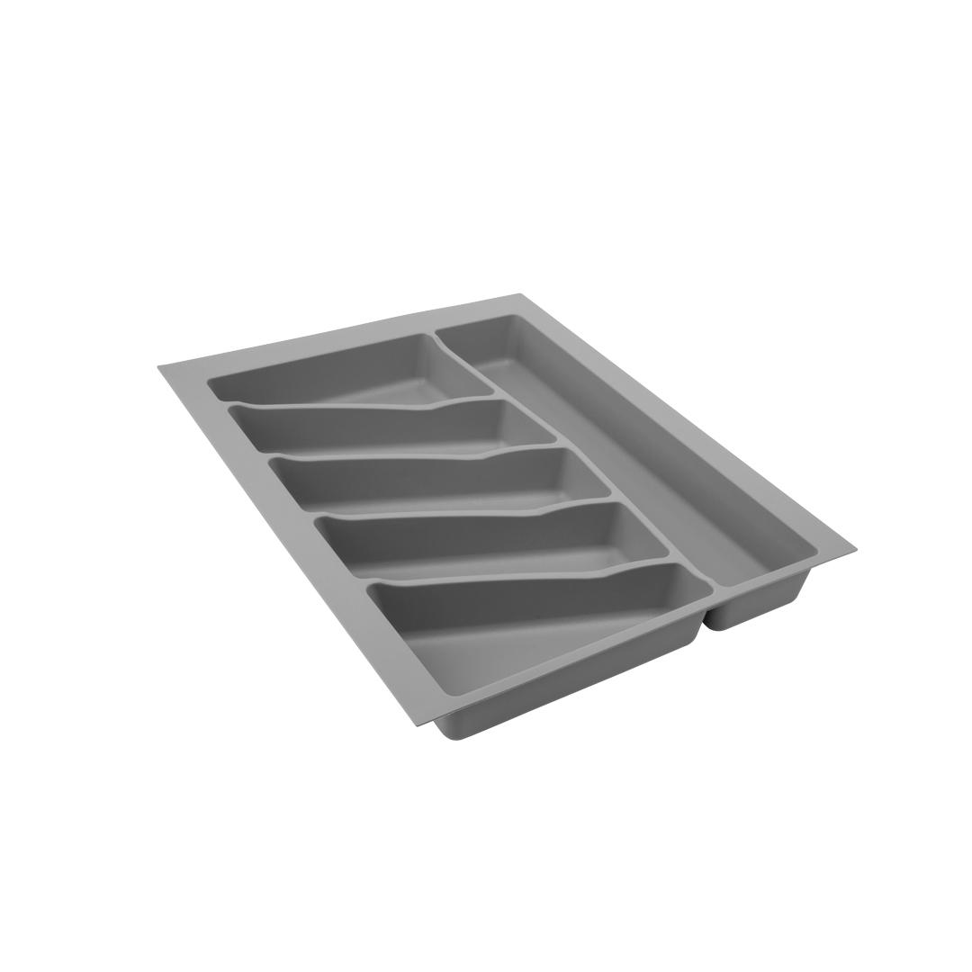Лоток для столовых приборов VOLPATO, цвет: серый, 39 х 49 х 5 см32-76-NN45-GRЛоток для столовых приборов изготовлен из прочного и экологически чистого пластика. В такой лоток поместится большое количество столовых приборов, при этом они будут упорядочены.Лоток легко достать и помыть в случае необходимости.Благодаря наличию широких и мягких бортов лоток легко подогнать под нужный размер ящика.