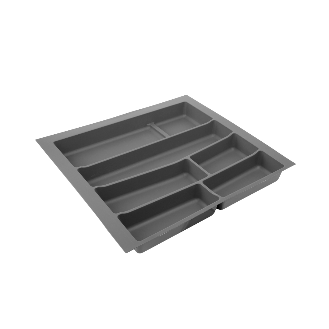 Лоток для столовых приборов VOLPATO, цвет: темно-серый, 54 х 49 х 5 см32-76-NN60-GPЛоток для столовых приборов изготовлен из прочного и экологически чистого пластика. В такой лоток поместится большое количество столовых приборов, при этом они будут упорядочены.Лоток легко достать и помыть в случае необходимости. Благодаря наличию широких и мягких бортов лоток легко подогнать под нужный размер ящика.