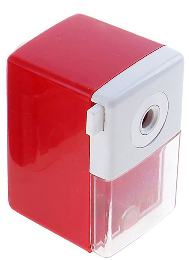 Точилка механическая с контейнером Классика Офис цвет красный 649807649807_красныйТочилка — это приспособление, облегчающее затачивание карандашей. В зависимости от особенностей конструкции, она может быть ручной (небольшой размер, помещается в кармане) или настольной (более крупный размер) и подходить для обычных или толстых карандашей. Точилка — необходимый инструмент на любом школьном или офисном столе. Это канцелярское изделие придет на помощь как взрослому, так и ребенку в самый нужный момент.