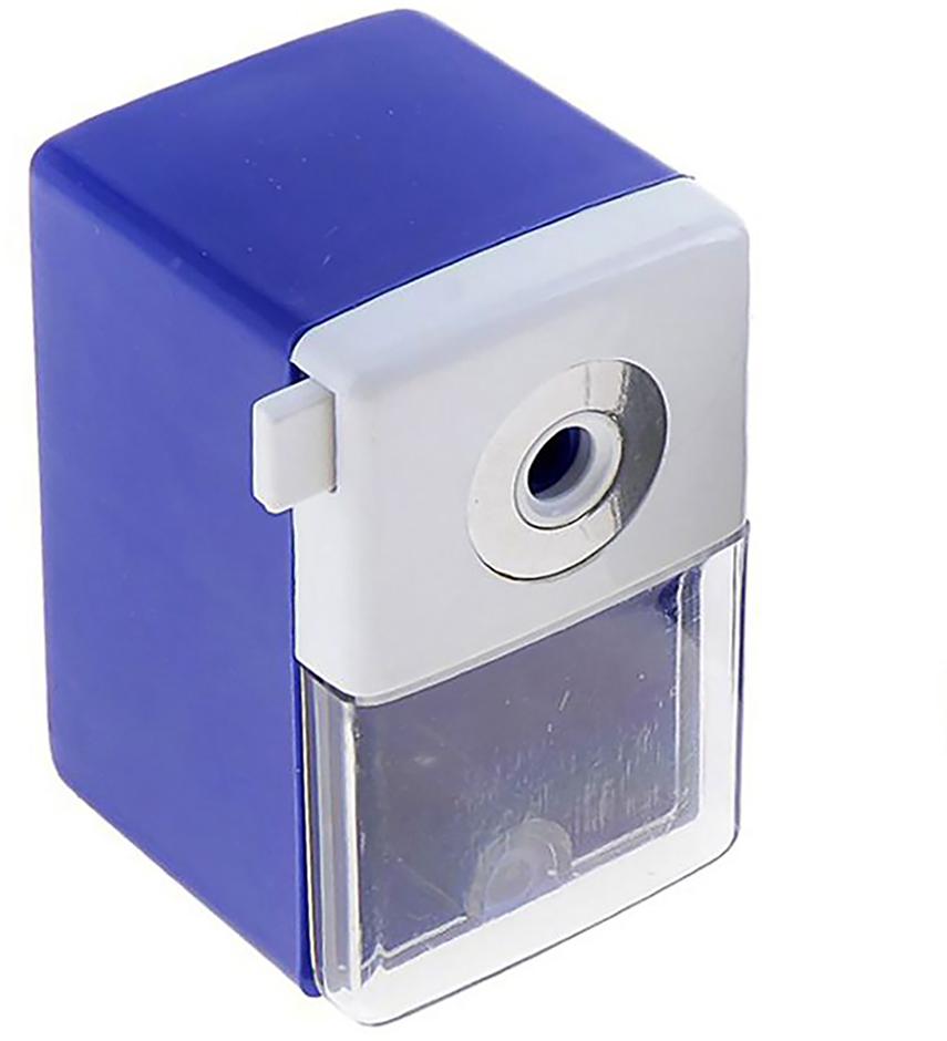 Точилка механическая с контейнером Классика Офис цвет синий 649807 точилка для карандашей механическая панда e0518