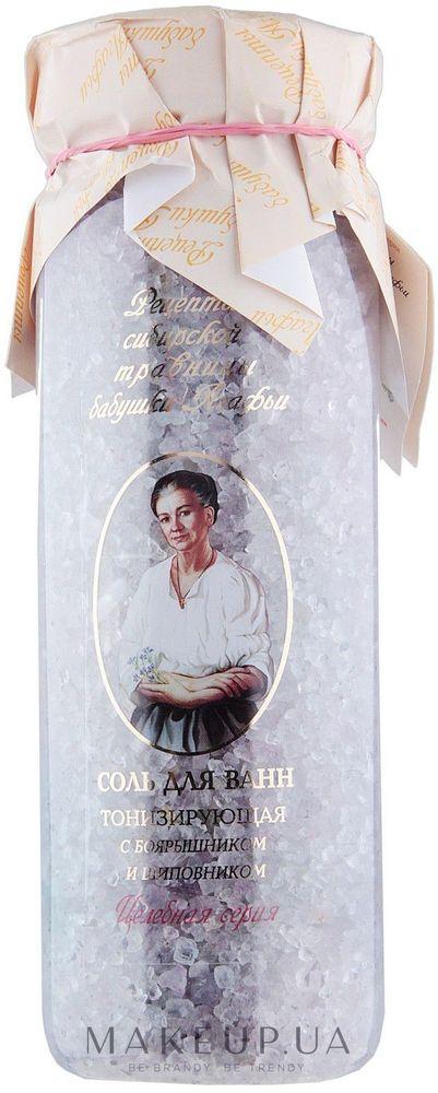 Рецепты бабушки Агафьи секреты сибирской травницы Соль для ванн тонизирующая Боярышник, шиповник, 800 мл