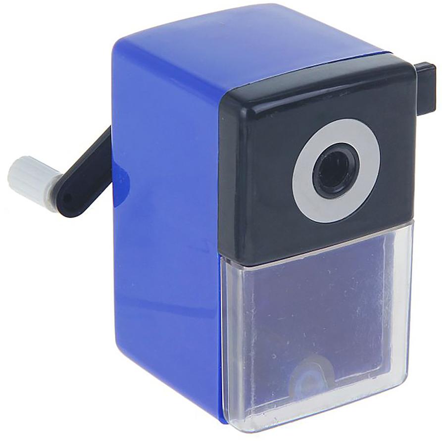 Точилка механическая с контейнером Классика Офис цвет темно-синий 649807649807_темно-синийТочилка — это приспособление, облегчающее затачивание карандашей. В зависимости от особенностей конструкции, она может быть ручной (небольшой размер, помещается в кармане) или настольной (более крупный размер) и подходить для обычных или толстых карандашей. Точилка — необходимый инструмент на любом школьном или офисном столе. Это канцелярское изделие придет на помощь как взрослому, так и ребенку в самый нужный момент.