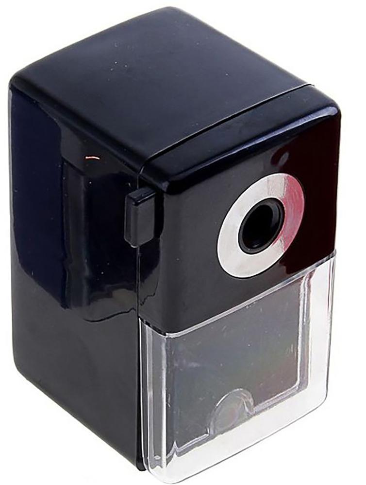 Точилка механическая с контейнером Классика Офис цвет черный 649807649807_черныйТочилка — это приспособление, облегчающее затачивание карандашей. В зависимости от особенностей конструкции, она может быть ручной (небольшой размер, помещается в кармане) или настольной (более крупный размер) и подходить для обычных или толстых карандашей. Точилка — необходимый инструмент на любом школьном или офисном столе. Это канцелярское изделие придет на помощь как взрослому, так и ребенку в самый нужный момент.