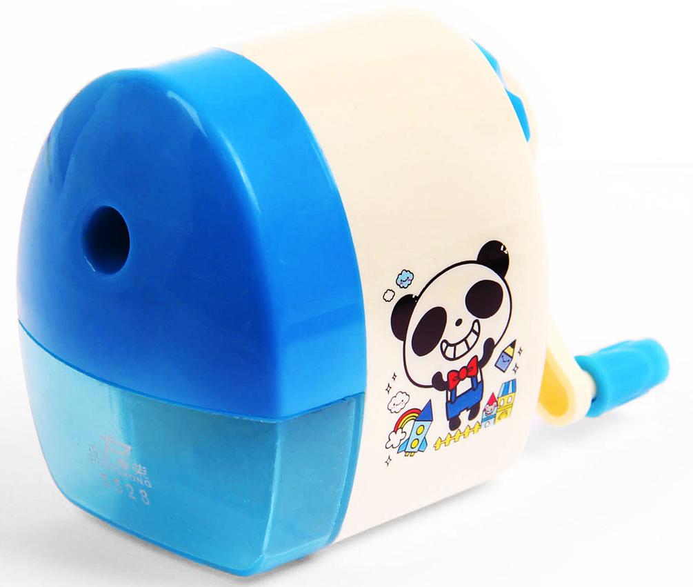 Точилка механическая с контейнером Классика с рисунком цвет голубой 2924197 herlitz точилка с контейнером и ластиком цвет голубой зеленый красный