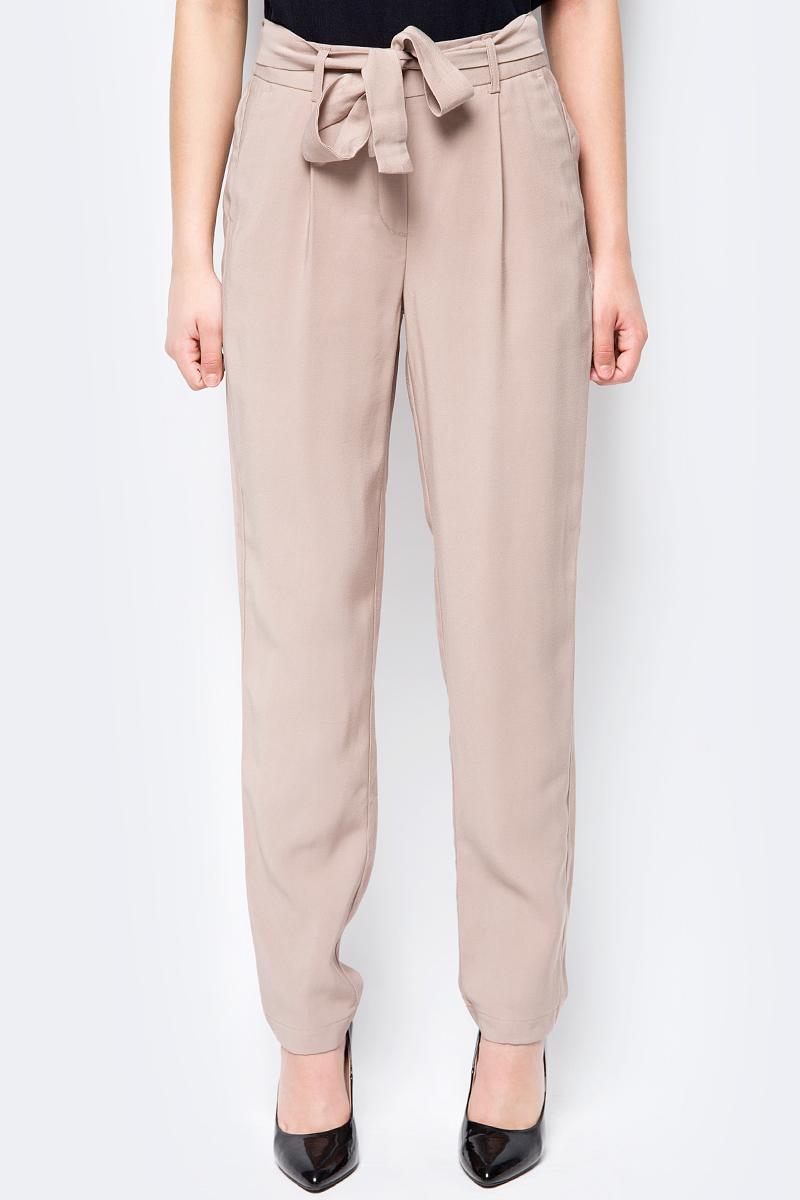 Брюки женские Vero Moda, цвет: коричневый. 10192463. Размер 42 (48) брюки женские vero moda цвет черный 10183272 размер s 32 42 32