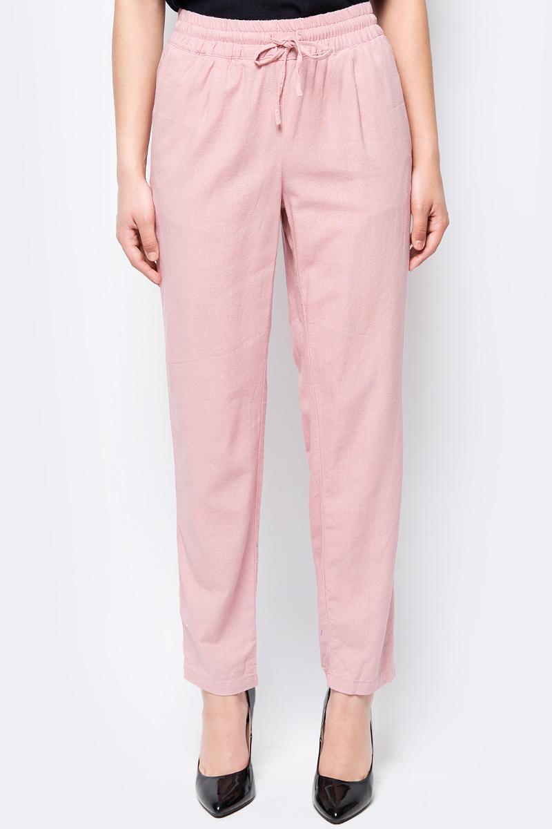 Брюки женские Vero Moda, цвет: розовый. 10192447. Размер M (44) платье vero moda цвет черный 10188396 black размер 44 46