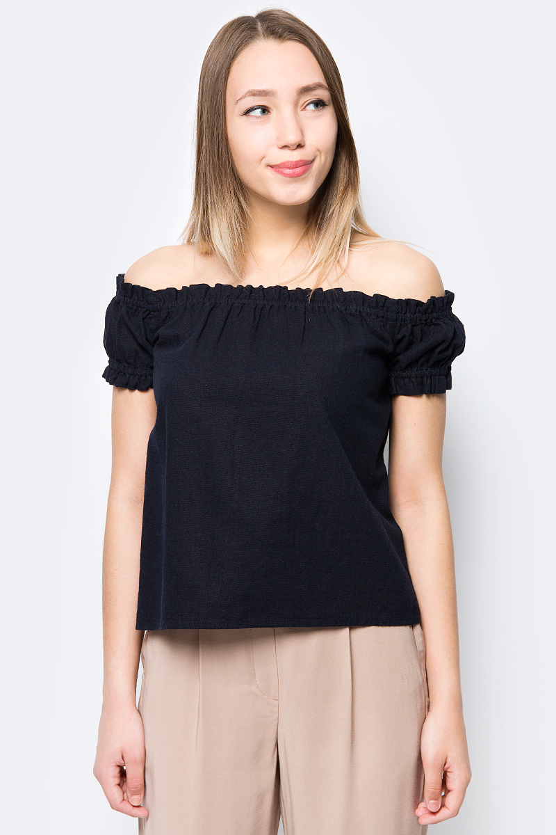 Блузка женская Vero Moda, цвет: черный. 10193736. Размер M (44) блузка женская vero moda цвет черный 10187780 black размер 42 44