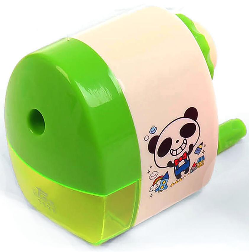 Точилка механическая с контейнером Классика с рисунком цвет зеленый 2924197 -  Чертежные принадлежности
