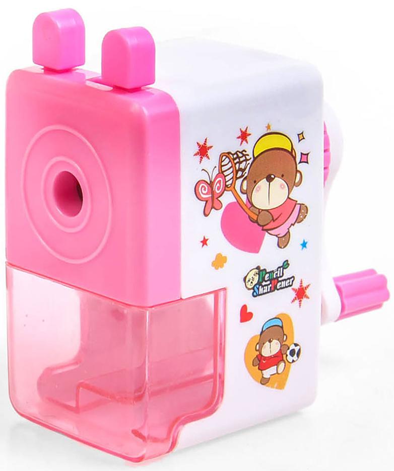 Точилка механическая с контейнером Классика с рисунком цвет розовый 2924201 -  Чертежные принадлежности