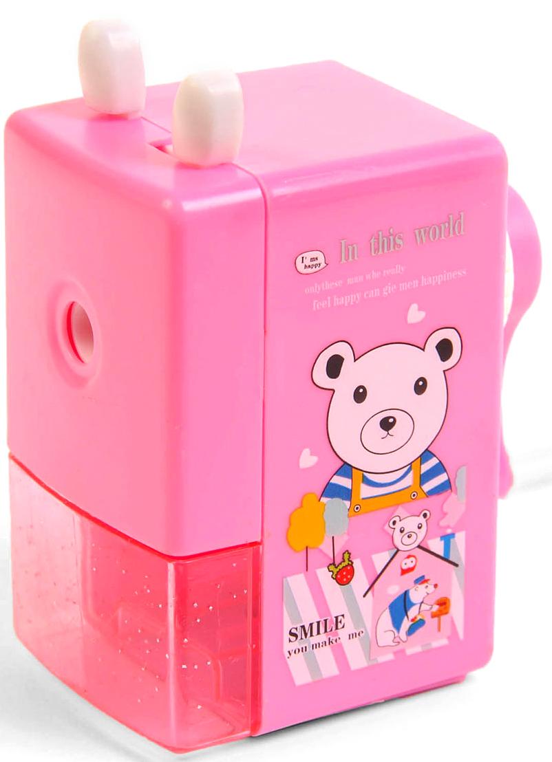 Точилка механическая с контейнером Классика с рисунком цвет розовый 2924206 -  Чертежные принадлежности