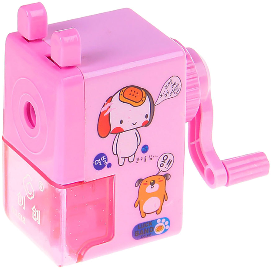 Точилка механическая с контейнером Классика с рисунком цвет розовый 540490 -  Чертежные принадлежности