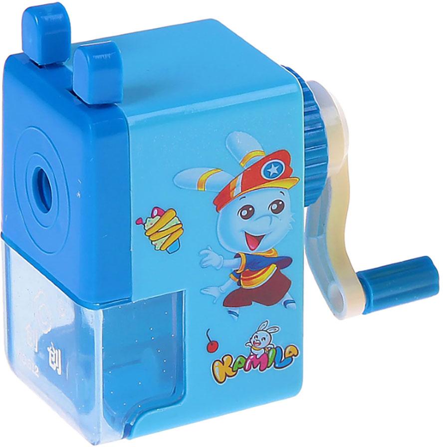 Точилка механическая с контейнером Классика с рисунком цвет синий 540490