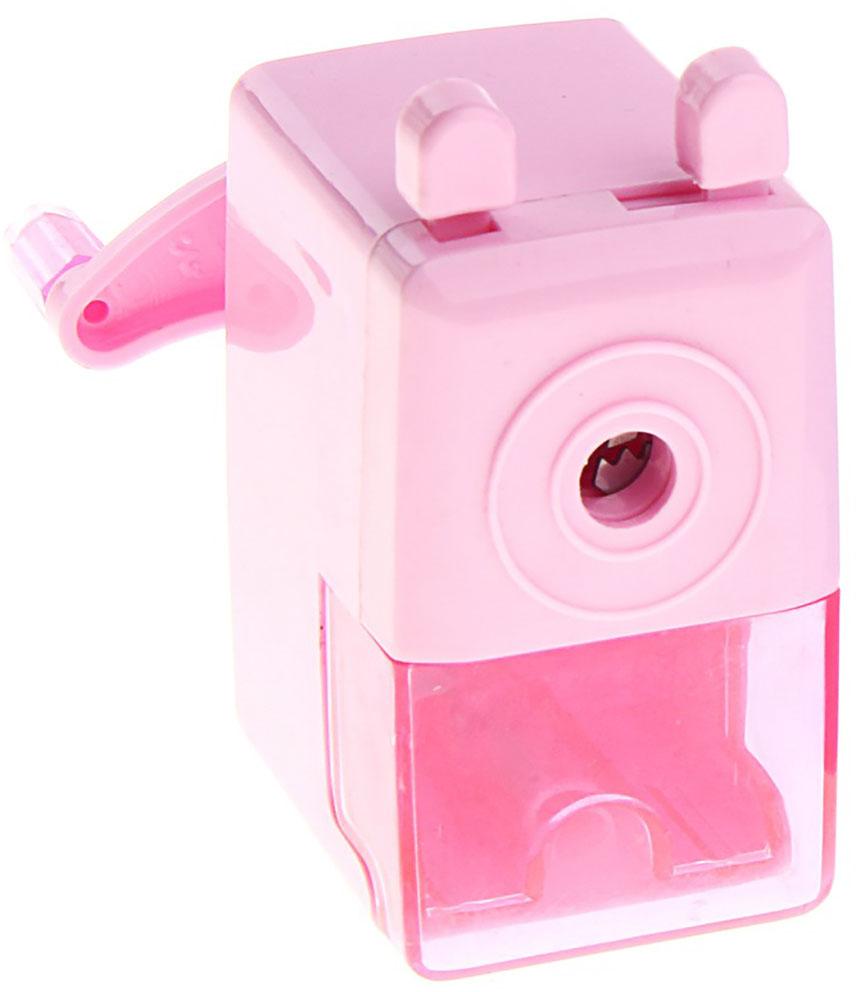 Точилка механическая с контейнером Классика цвет розовый 127689 -  Чертежные принадлежности