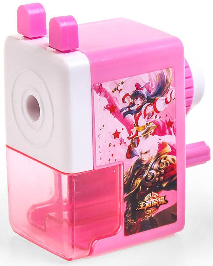 Точилка механическая с контейнером Классика цвет розовый 29242002924200_розовыйТочилка — это приспособление, облегчающее затачивание карандашей. В зависимости от особенностей конструкции, она может быть ручной (небольшой размер, помещается в кармане) или настольной (более крупный размер) и подходить для обычных или толстых карандашей. Точилка — необходимый инструмент на любом школьном или офисном столе. Это канцелярское изделие придет на помощь как взрослому, так и ребенку в самый нужный момент.