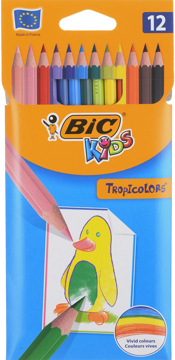 Bic Набор цветных карандашей Tropicolors 12 цветов bic набор цветных карандашей evolution 18 цветов