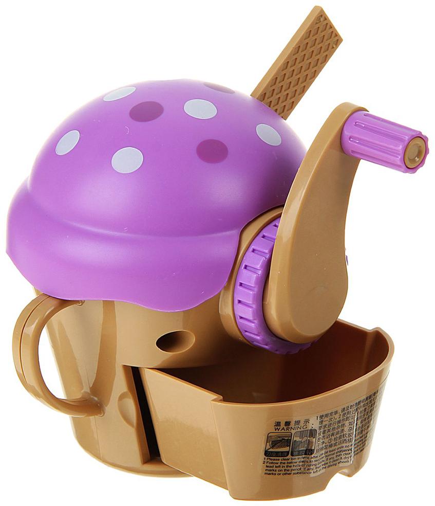 Точилка механическая с контейнером Коктейль цвет фиолетовый 1722952 - Чертежные принадлежности