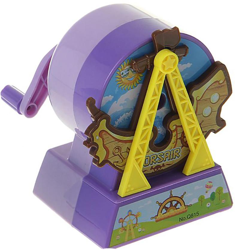 Точилка механическая с контейнером Корабль цвет фиолетовый 1505443 - Чертежные принадлежности
