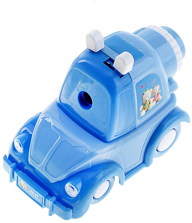 Точилка механическая с контейнером Машинка цвет голубой 651646 -  Чертежные принадлежности