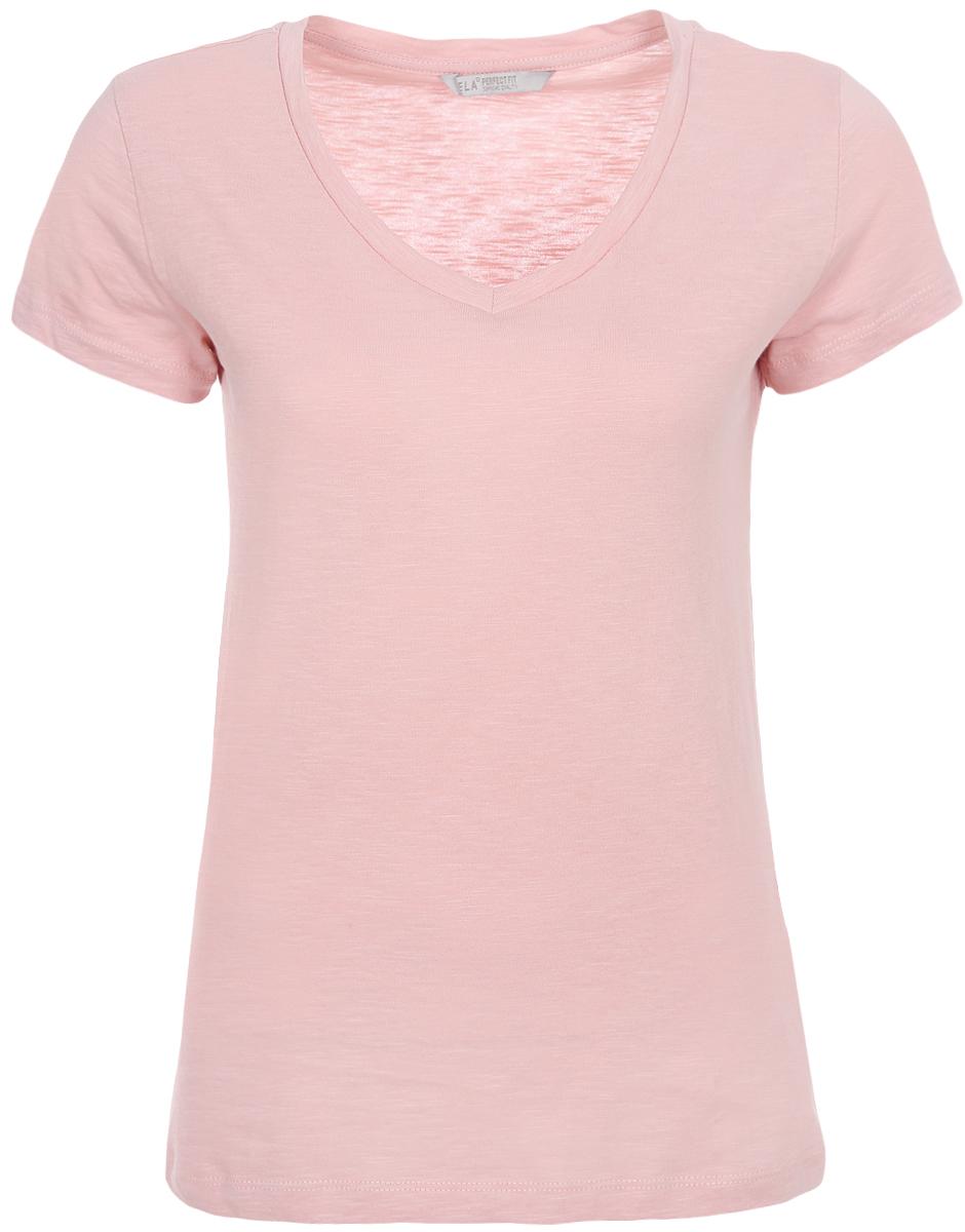 Футболка женская Sela, цвет: серебристо-розовый. Ts-111/337-8182. Размер XXS (40) футболка женская sela цвет белый ts 111 1227 7181 размер xxs 40