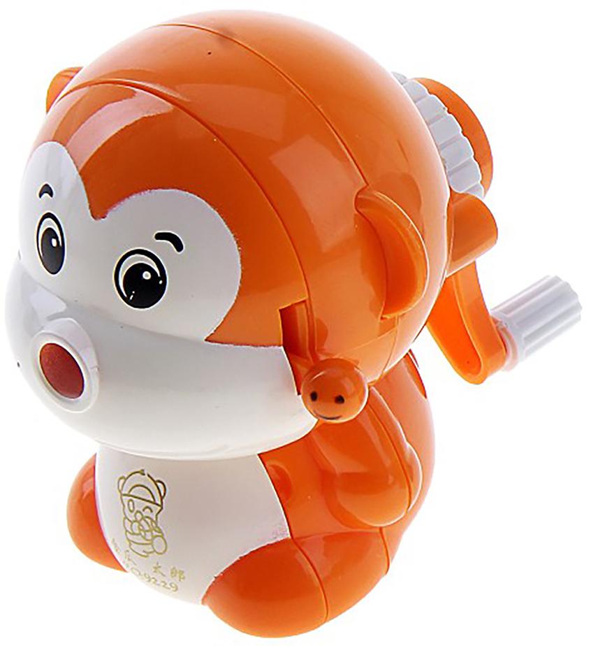 Точилка механическая с контейнером Обезьянка цвет оранжевый 649808 - Чертежные принадлежности