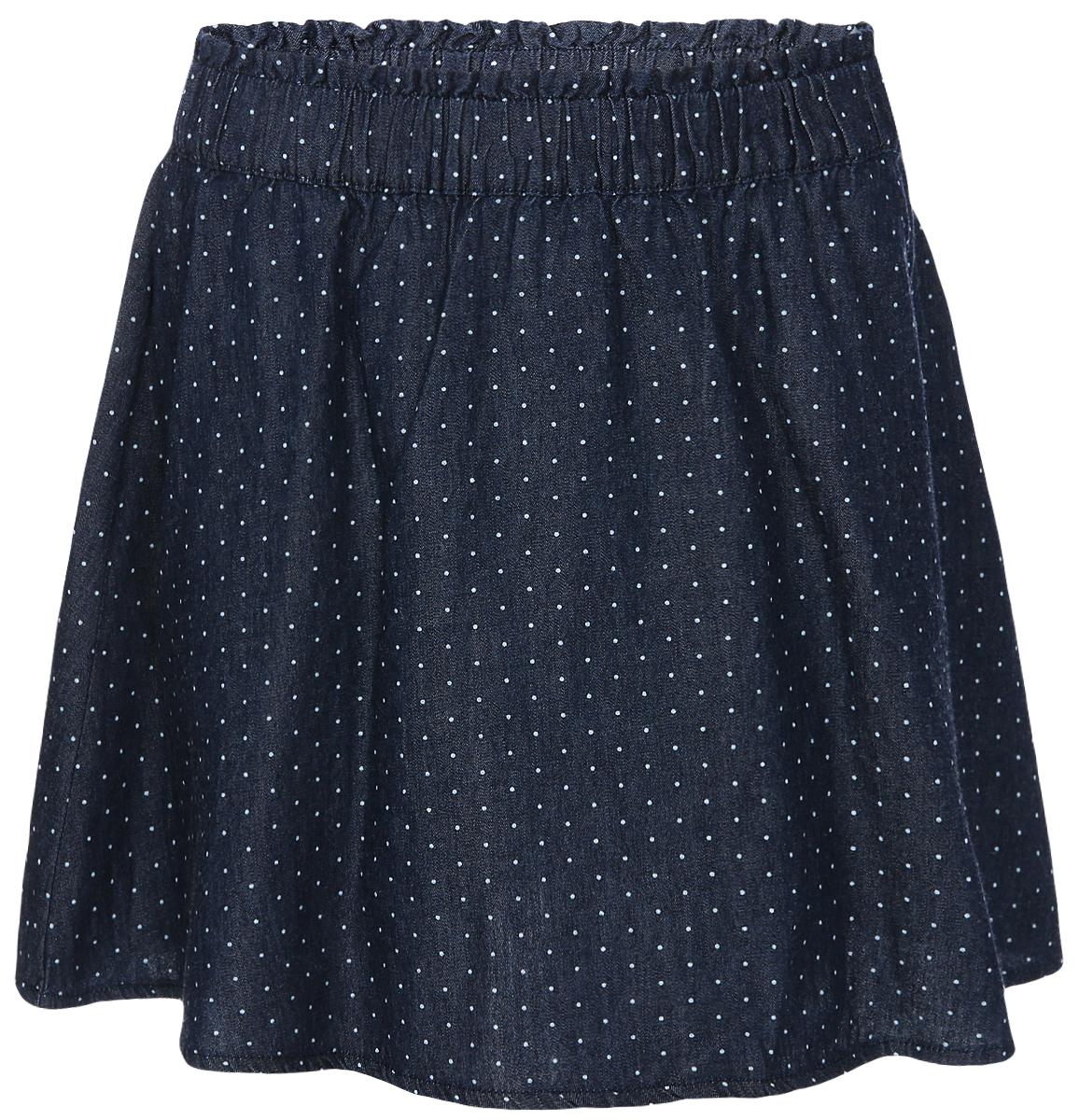 Юбка для девочки Sela, цвет: темно-синий. SKJ-638/476-8233. Размер 128, 8 летSKJ-638/476-8233