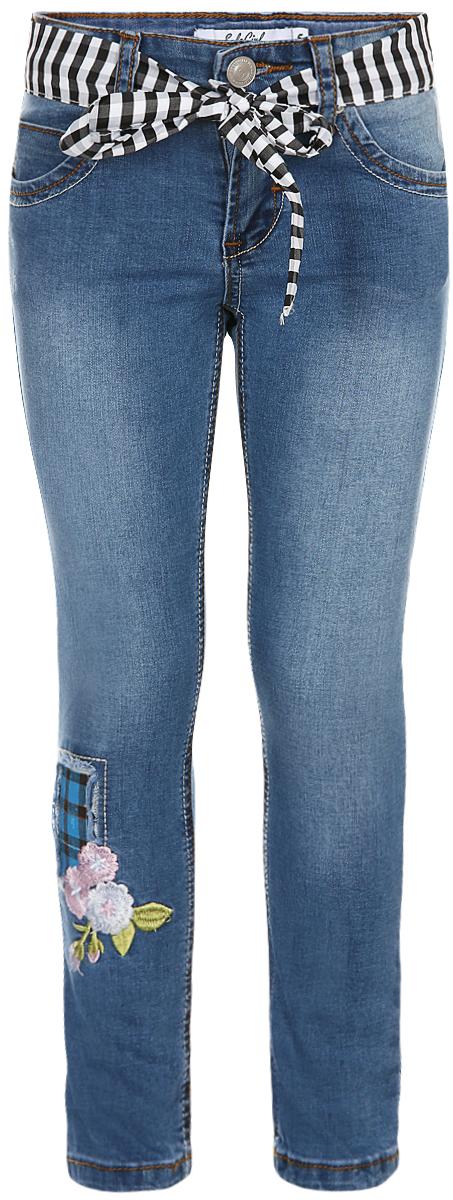 Брюки для девочки Sela, цвет: синий. PJ-535/331-8112. Размер 116, 6 лет цена