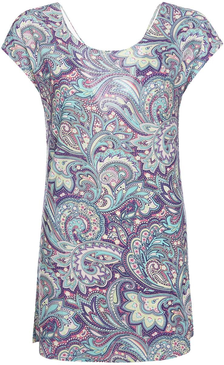 Рубашка женская Sela, цвет: бирюзовый. NDb-161/019-8204. Размер XS (42)