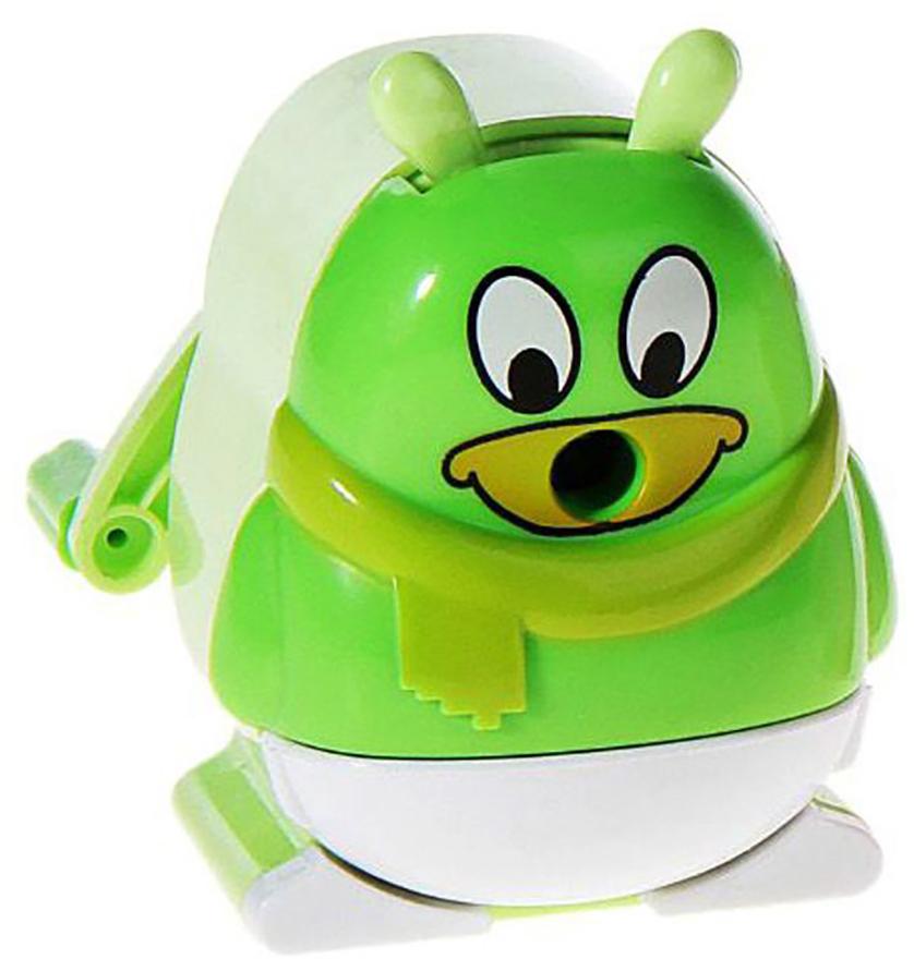 Точилка механическая с контейнером Пингвин цвет зеленый 230072230072_зеленыйТочилка — это приспособление, облегчающее затачивание карандашей. В зависимости от особенностей конструкции, она может быть ручной (небольшой размер, помещается в кармане) или настольной (более крупный размер) и подходить для обычных или толстых карандашей. Точилка — необходимый инструмент на любом школьном или офисном столе. Это канцелярское изделие придет на помощь как взрослому, так и ребенку в самый нужный момент.