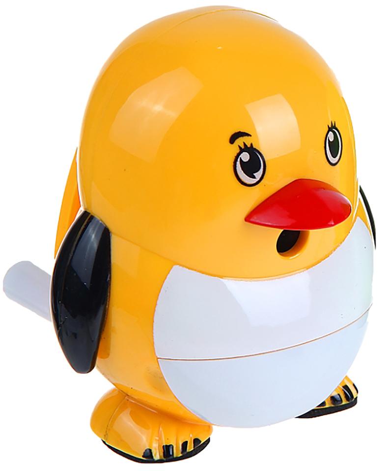 Точилка механическая с контейнером Пингвиненок цвет желтый 1101888 -  Чертежные принадлежности