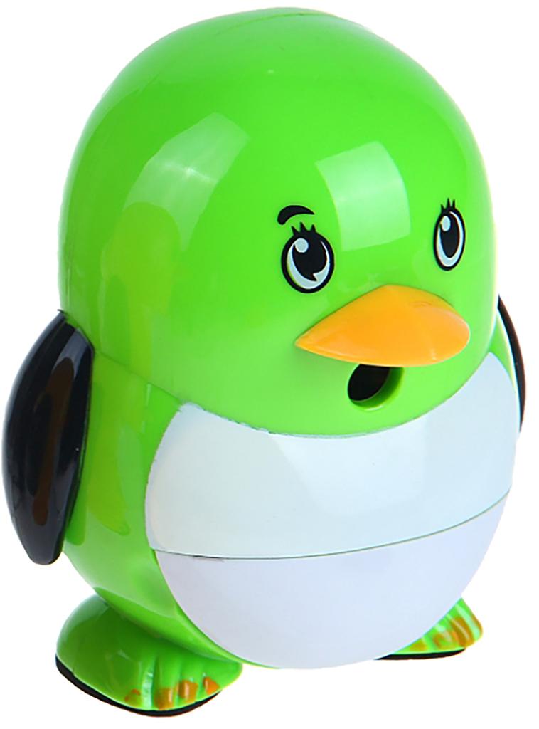 Точилка механическая с контейнером Пингвиненок цвет зеленый 1101888 точилка для карандашей механическая панда e0518