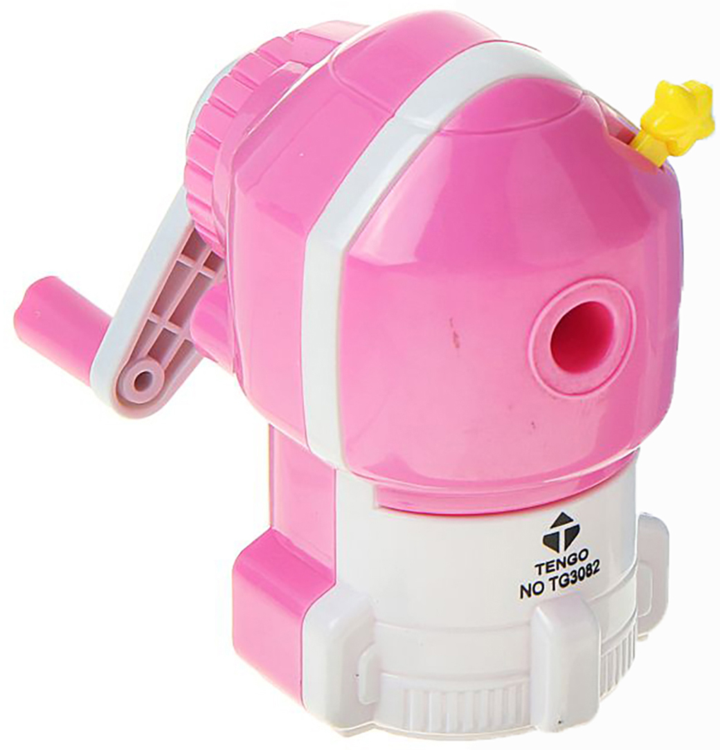 Точилка механическая с контейнером Ракета цвет розовый 1505444 -  Чертежные принадлежности