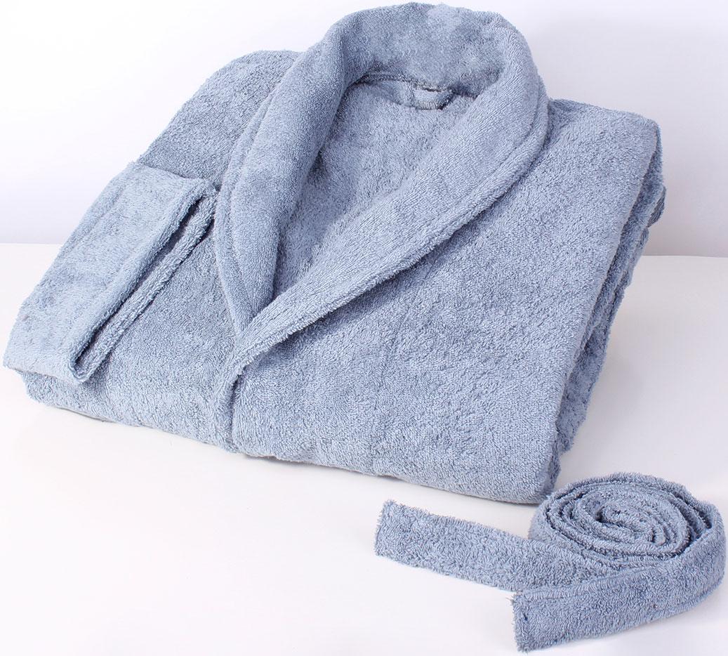 Халат махровый Dome Harmonika, цвет: серо-голубой. Размер M домашние халаты pastilla домашний халат бритни цвет красный xxl