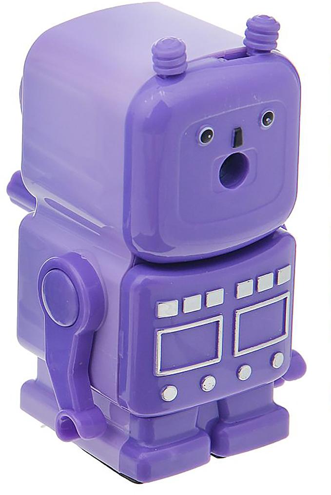 Точилка механическая с контейнером Робот цвет фиолетовый 12692791269279_фиолетовыйТочилка — необходимый инструмент на любом школьном или офисном столе. В зависимости от особенностей конструкции она может быть ручной (небольшой размер, помещается в кармане) или настольной (более крупная) и подходить для обычных или толстых карандашей. Заострить, выровнять или восстановить сломавшийся грифель — вот главные функции этого приспособления.
