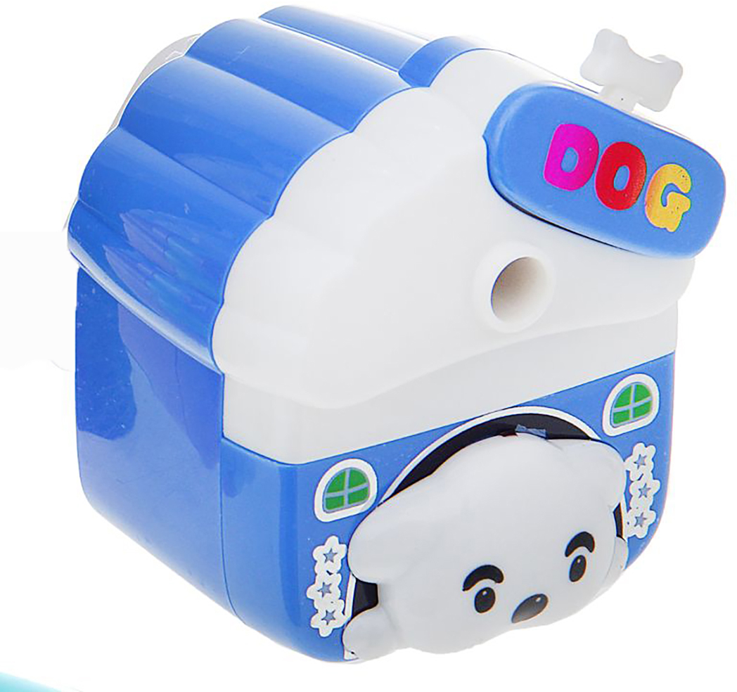 Точилка механическая с контейнером Собачка в будке цвет синий 1269278