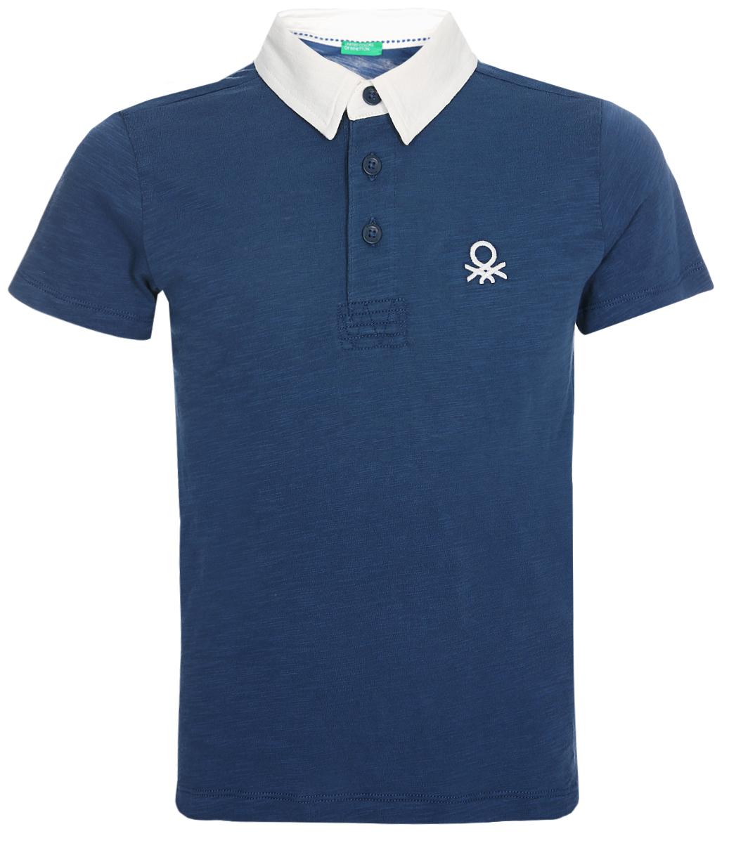 Поло для мальчика United Colors of Benetton, цвет: синий. 3XF7C3083_217. Размер 100