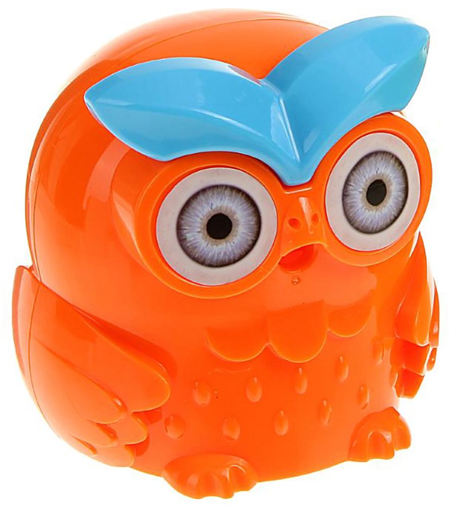 Точилка механическая с контейнером Сова цвет оранжевый 19650081965008_оранжевыйТочилка — необходимый инструмент на любом школьном или офисном столе. В зависимости от особенностей конструкции она может быть ручной (небольшой размер, помещается в кармане) или настольной (более крупная) и подходить для обычных или толстых карандашей. Заострить, выровнять или восстановить сломавшийся грифель — вот главные функции этого приспособления.