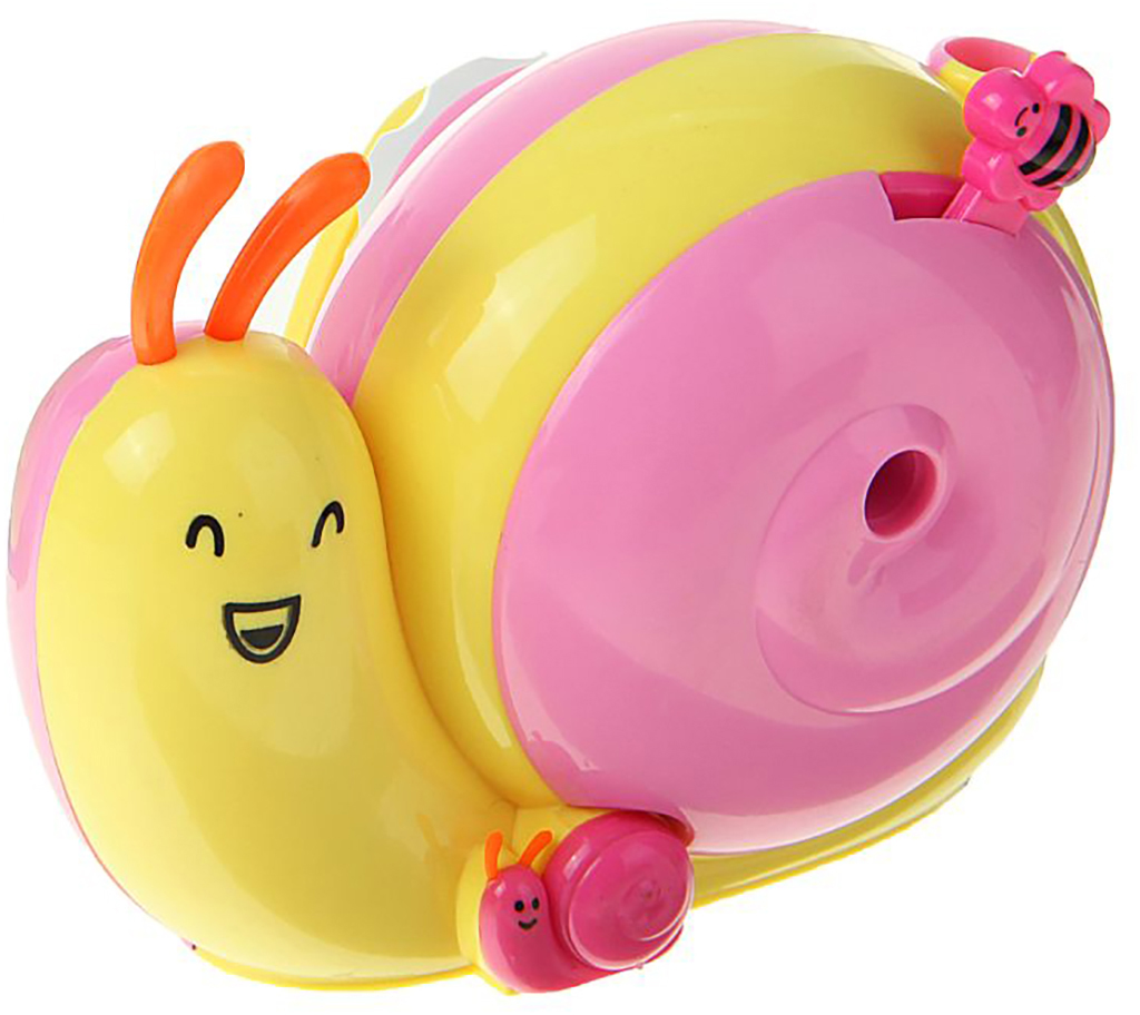Точилка механическая с контейнером Улитка цвет желтый 1505446 -  Чертежные принадлежности