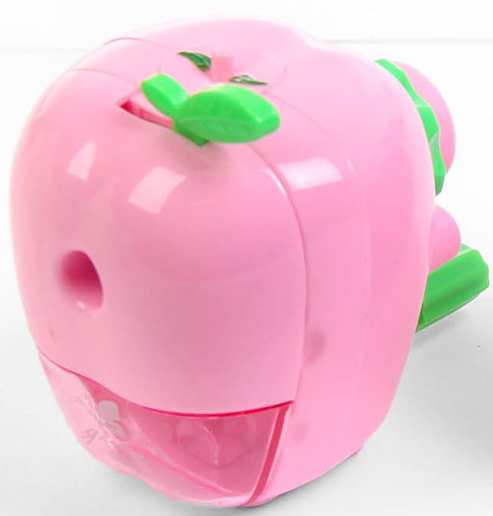 Точилка механическая с контейнером Яблоко цвет светло-розовый 2924203