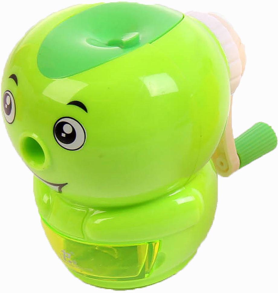 Точилка механическая с контейнером Ягоды цвет зеленый 2924205 - Чертежные принадлежности