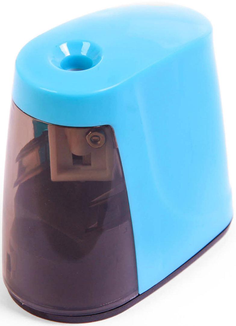 Точилка электрическая с контейнером цвет голубой 26910882691088_голубойТочилка — необходимый инструмент на любом школьном или офисном столе. В зависимости от особенностей конструкции она может быть ручной (небольшой размер, помещается в кармане) или настольной (более крупная) и подходить для обычных или толстых карандашей. Заострить, выровнять или восстановить сломавшийся грифель — вот главные функции этого приспособления.