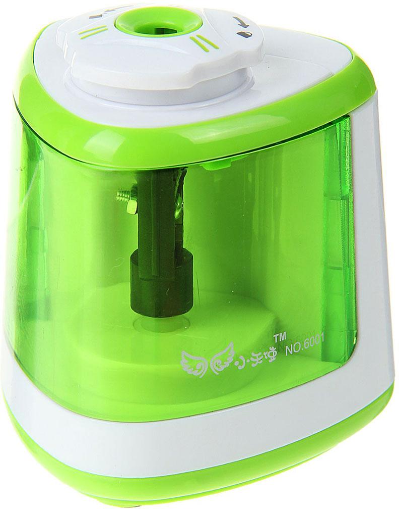 Точилка электрическая с контейнером цвет зеленый 17229531722953_зеленыйТочилка — необходимый инструмент на любом школьном или офисном столе. В зависимости от особенностей конструкции она может быть ручной (небольшой размер, помещается в кармане) или настольной (более крупная) и подходить для обычных или толстых карандашей. Заострить, выровнять или восстановить сломавшийся грифель — вот главные функции этого приспособления.