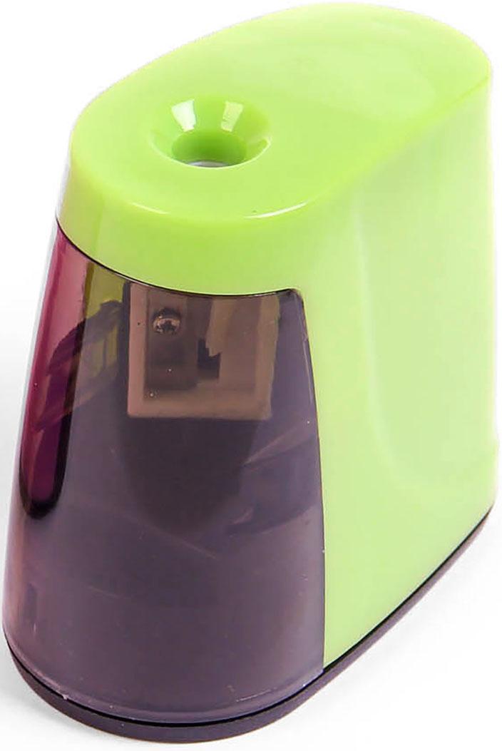 Точилка электрическая с контейнером цвет зеленый 26910882691088_зеленыйТочилка — необходимый инструмент на любом школьном или офисном столе. В зависимости от особенностей конструкции она может быть ручной (небольшой размер, помещается в кармане) или настольной (более крупная) и подходить для обычных или толстых карандашей. Заострить, выровнять или восстановить сломавшийся грифель — вот главные функции этого приспособления.