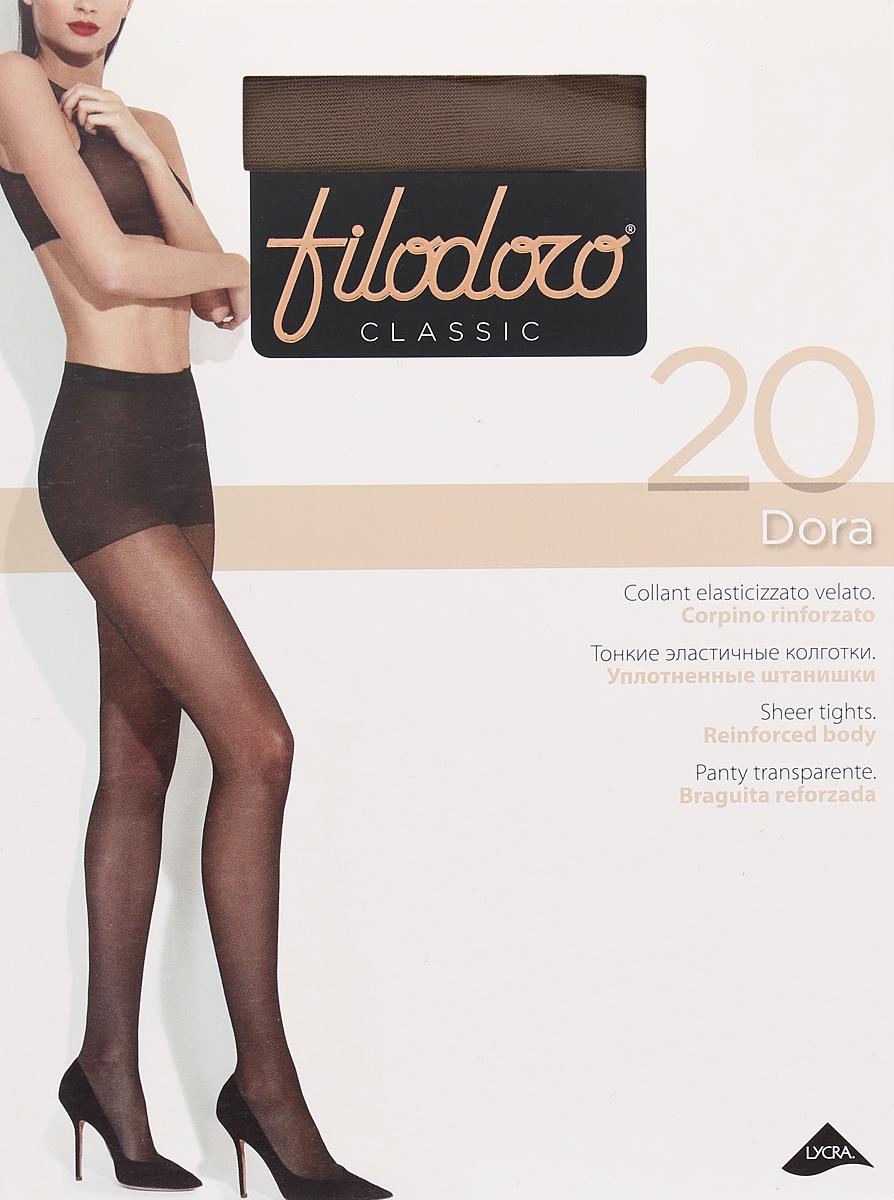Колготки женские Filodoro Classic Dora 20, цвет: Glace (бронзовый). SNL-411945. Размер 5 колготки filodoro classic колготки
