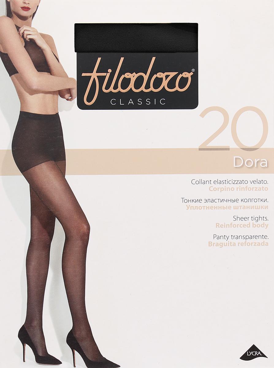 Колготки женские Filodoro Classic Dora 20, цвет: Nero (черный). SNL-411946. Размер 5 колготки женские filodoro classic ninfa 20 цвет nero черный c109172fc размер 2 s